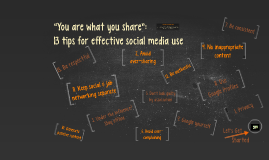 "Non-sanction ""You are what you share"" social media presentation"