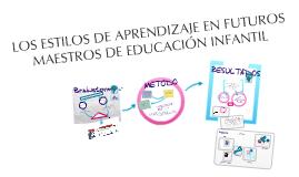 Copy of Copy of Copy of Copy of LOS ESTILOS DE APRENDIZAJE EN FUTUROS MAESTROS DE EDUCACIÓN INFANTIL