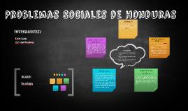 Problemas Sociales de Honduras
