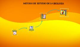 METODO DE  ESTUDIO DE LA BIOLOGIA