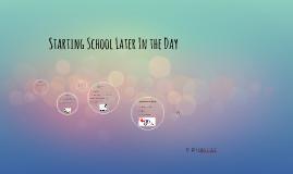 Starting School Later