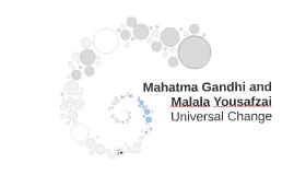 Mahatma Gandhi and Malala Yousafsai
