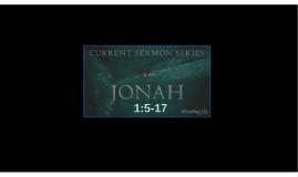 Disasters:  Jonah 1:1-4