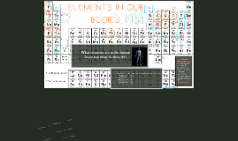 Copy of Elements in our bodies