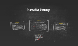 Narrative Openings