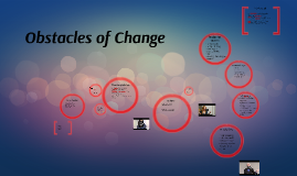 Obstacles of Change