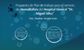 Propuesta de Plan de trabajo para el servicio de Hemodiálisi