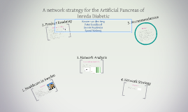 A network strategy for the Artificial Pancreas of Inreda Dia