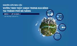 Nghiên cứu nhu cầu vườn treo thủy canh trong gia đình tại thành phố Đà Nẵng