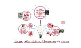 L'apogeo dell'assolutismo, l'illuminismo e le riforme