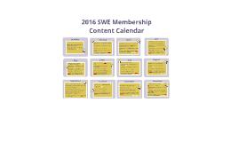 SWE Membership Content Calendar