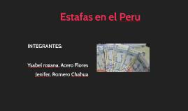 Estafas en el Peru