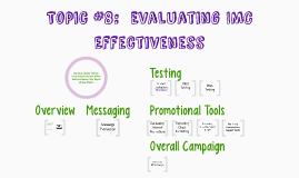 Topic #8, Evaluating IMC Effectiveness