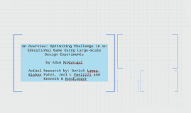 Optimizing Challenge in an Educational Game Using Large-Scal