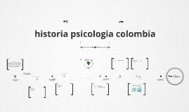 Linea de tiempo psicología en colombia