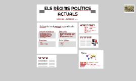 ELS RÉGIMS POLÍTICS ACTUALS