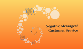 Negative Messages/Customer Service