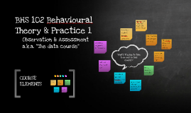 BHS102: Behavioural Theory & Practice
