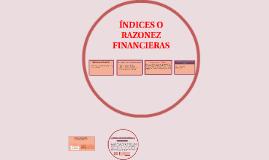 INDICES O RAZONES DE  LIQUIDEZ
