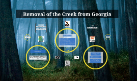 Removal of the Creek from Georgia