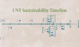 UNT Sustainability Timeline
