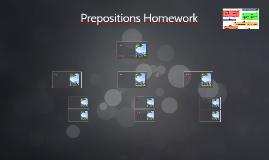Prepositions Homework