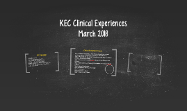 KEC Clinical Experiences