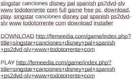 singstar canciones disney pal spanish ps2dvd-slv www todotor