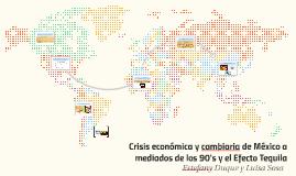 Crisis económica y cambiaria de México a mediados de los 90'