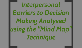 Interpersonal Barriers to Decision Making Analysed using the