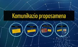 Komunikazio proposamena