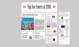Top Ten Events of 2016