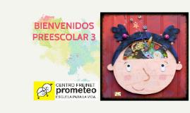 BIENVENIDOS PREESCOLAR 3