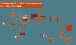 Poli 1223 A busy week in the life of a Congressman