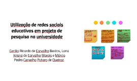 Utilização de redes sociais educativas em projeto de pesquis