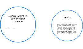 British Literature and Modern Science