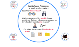 Institutional Pressures & Police Misconduct