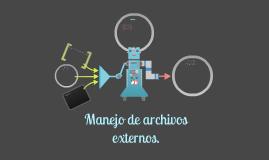 Manejo de archivos externos.