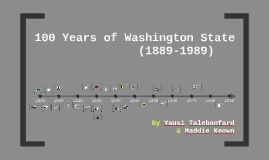 100 Years of Washington State (1889-1989)