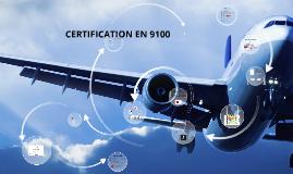 Certification EN 9100 - 2018