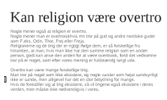 Kan religion være overtro