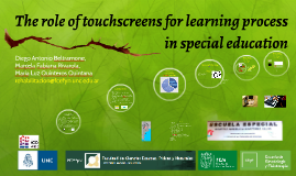 The role of touchscreens for learning process in special edu