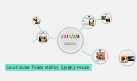 Courthouse, Police station, Sarah's house