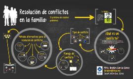 Resolución de conflictos en la familia