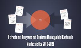 Extracto del Programa del Gobierno Municipal del Canton de M