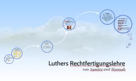 Luthers Rechtfertigungslehre