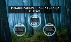 POTABILIZACION DE AGUA ( GRANJA EL TIROL