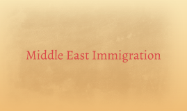Middle East Immigration