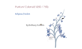 Puritain/Colonial period