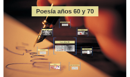 Poesía años 60 y 70